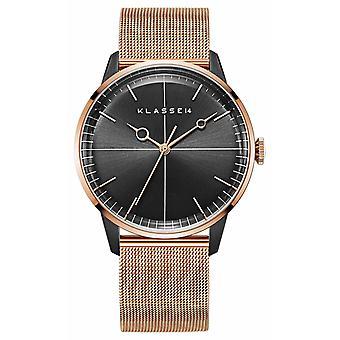 Klasse14 Disco Volante Rose Gold Black Mesh 40mm WDI19RB001M Watch