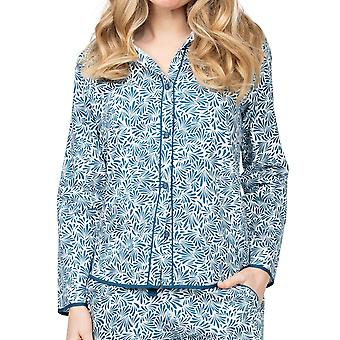 Cyberjammies Maria 4892 Women's White Leaf Cotton Pyjama Top