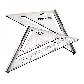 7 Inch Alloy Speed Square Protractor Miter Framing Measurement Ruler For Carpenter,silver