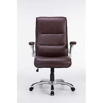 Office Chair - Desk Chair - Home Office - Modern - Red - Plastic - 74 cm x 76 cm x 108 cm