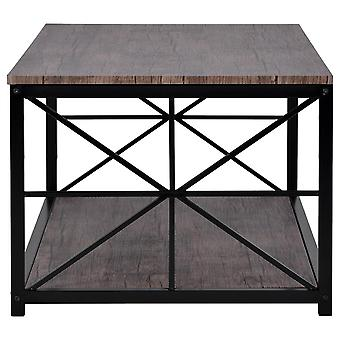 Coffee/living Room Table With Black Metal Frame