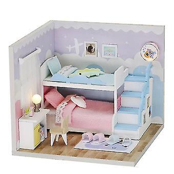 Cutebee diy poppenhuis houten pop huizen miniatuur poppenhuis meubels kit speelgoed voor kinderen