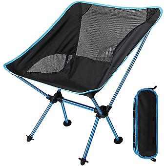 Portable Folding Camping Chair Ultra-light Compact Fishing Chair With Carrying Bag For Hiking, Bbq, Picnic, Beach, Outdoor, Max Load 150kg