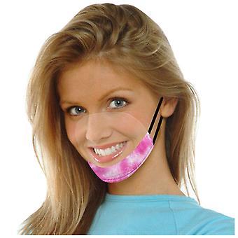 Le ansiktsmask med tydlig vinyl synlig uttryck läppläsning mask