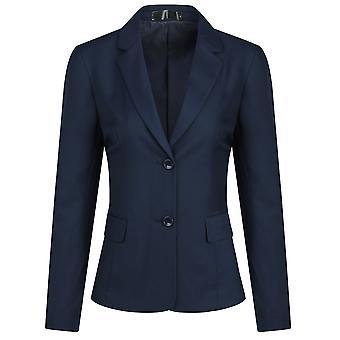 ميل المرأة الصلبة لون واحد صف اثنين من سترة بدلة زر، سترة مكتب العمل بليزر