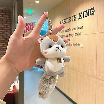 Xingdailu iskolatáska baba kulcstartó aranyos táska díszkulcs medál fahéj kutya baba plüss kulcstartó