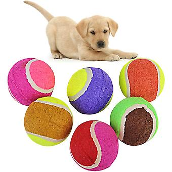 6 Pcs Of Pet Dog Chew Toy Tennis, Pet Cat And Kitten Toy(random Color)