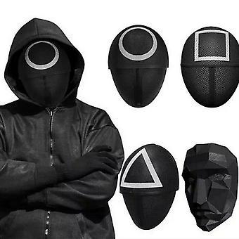 1pc 2021 Tintenfisch Spiel / Runde Six Face Mask Halloween Party Cosplay Mask Horror Spiel Neu