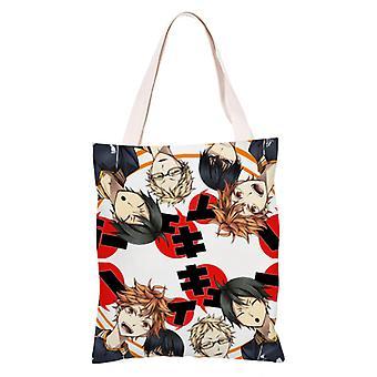 الكرتون أنيمي قماش حقيبة التسوق Totes، هايكيو #20