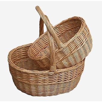 Shopping panier Shopper ovale chamois Set 2