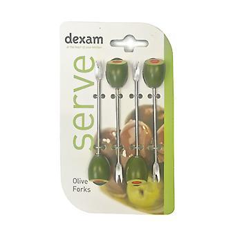 Dexam Olive Gabeln 4er-Set