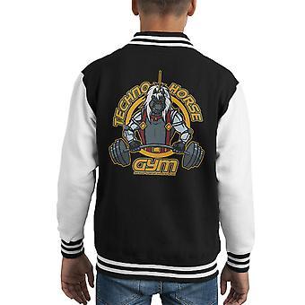 Techno Horse Gym Bravestarr Kid's Varsity Jacket