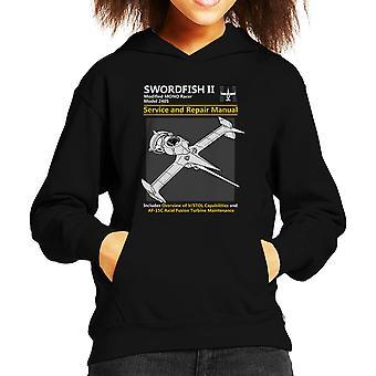 Cowboy Bebop Swordfish Service And Repair Manual Kid's Hooded Sweatshirt