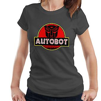Jurassic Transformers Autobot Optimus Prime Damen T-Shirt