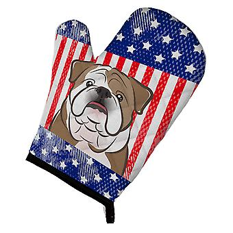 Carolines Treasures  BB2149OVMT American Flag and English Bulldog  Oven Mitt