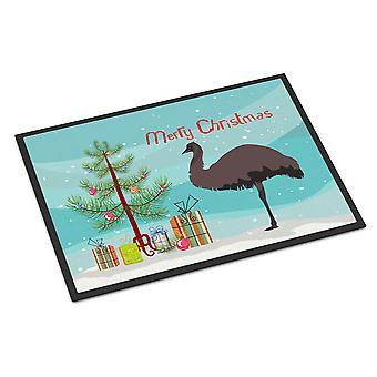 キャロラインズ宝物 BB9289MAT エミュー クリスマス屋内または屋外マット 18 x 27
