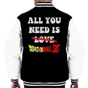 Allt du behöver är Dragon Ball Z mäns Varsity jacka