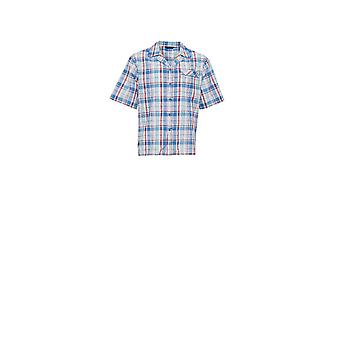 Cyberjammies 6221 mannen James Blue Check Pajama Top