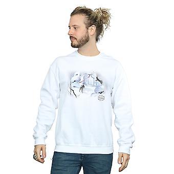 Disney męska Bluza Bambi śnieg
