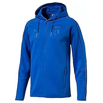 2018-2019 Italia Puma Azzurri Zip gjennom Hoody (blå)
