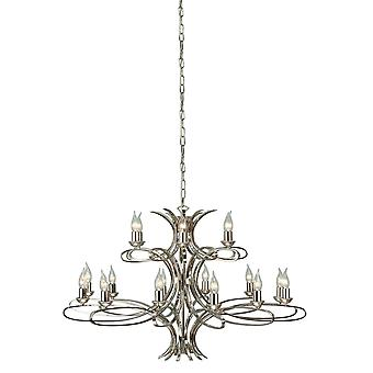 Interiors 1900 Penn Large 18 Light Chandelier In Polished Nick