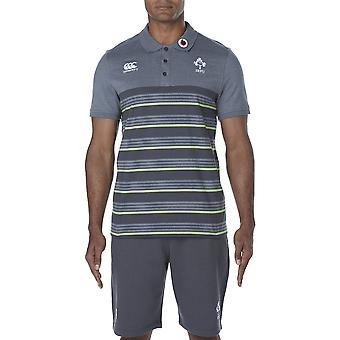 Canterbury Clothing Mens Irish Rugby Cotton Jersey Striped Polo Shirt