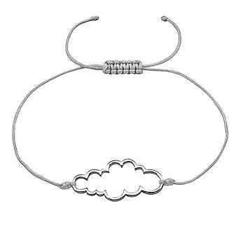 Nuvem - cabo de Nylon + prata 925 esterlina com fio pulseiras - W18411x