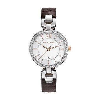 Pierre Cardin ladies watch wristwatch muette femme leather PC107602F01