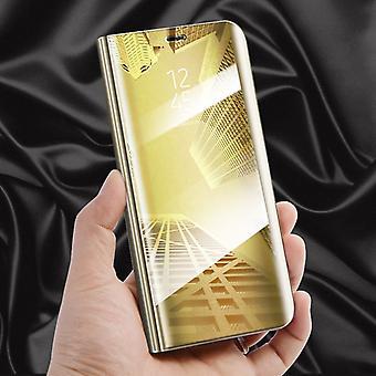 Klar utsikt speil speil smart dekker gull for Samsung Galaxy S9 G960F beskyttende coveret veske bag tilfelle ny sak våkne opp funksjonen