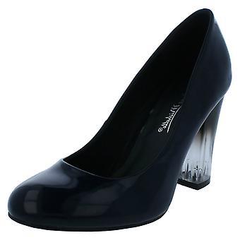 Zapatos de las señoras Anne Michelle claro bloque tacón corte F9921