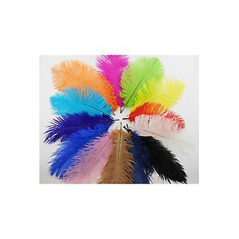 Boa y plumas de avestruz pluma/la pluma de colores 50 cm