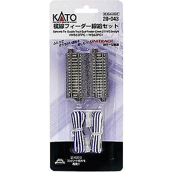 7078023 N Kato Unitrack Dual track, Feeder track 62 mm