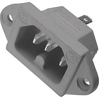 Hot wire connector 780 Series (mains connectors) 780 Plug, vertical mount Total number of pins: 2 + PE 10 A Grey Kaiser 780/gr 1 pc(s)