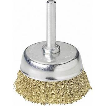 Wolfcraft 2112000Cup brush Ø . 50 mm Brass-plated steel wire Shank diameter 1/4 (6.35 mm) 1 pc(s)