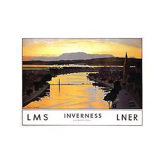 Inverness (gamle jernbane E.kr.) Stål Køleskabsmagnet