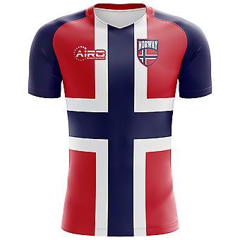 2018-2019 Norway Flag Concept Football Shirt (Kids)