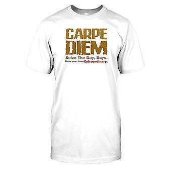 Carpe Diem - Seize The Mens T-shirt Jour Boys- Dead Poets Society Inspiré