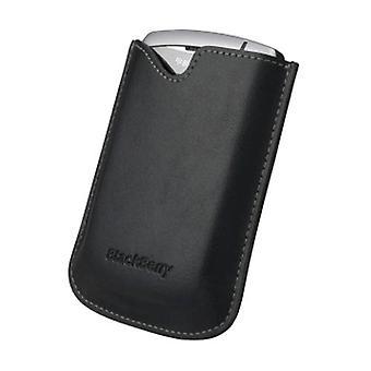 OEM Blackberry 8310 8320 8330 Curve Nahkainen kantolaukku ilman vyöklipsi, musta