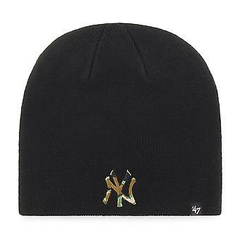 47 Brand Knit Beanie - CAMOFILL New York Yankees schwarz