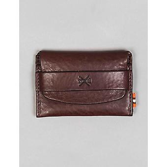 Tumble and Hide Chukka Leather Card Pouch - Brown