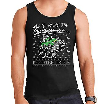 All I Want For Christmas Is A Monster Truck Men's Vest