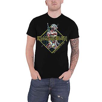 Iron Maiden T Shirt Somewhere in Time Diamond Band Logo new Official Mens Black