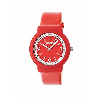 Crayo Vivid Unisex Watch - Red