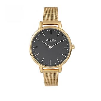Simplify The 5800 Mesh Bracelet Watch - Gold/Black