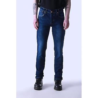 JUNQ COUTURE Saro Mid Blue Slim Fit Jeans