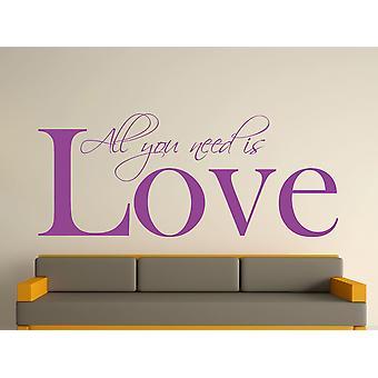 All You Need Wall Art Sticker - Purple