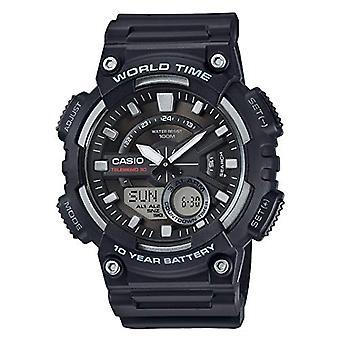 Casio analoog-digitaal horloge quartz mannen met zwarte hars riem AEQ-110-1AVEF