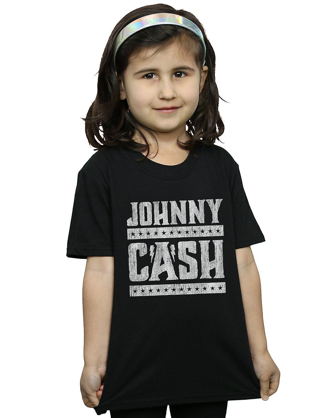 Johnny Cash Girls Stars And Stripes T-Shirt