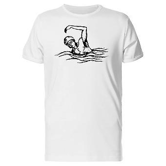 水泳選手落書き t シャツ メンズ-シャッターによる画像