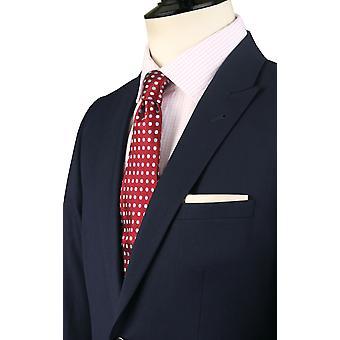 Dobell Mens Marine Travel/ytelse 2 stykke Dress Slim Fit topp jakkeslaget